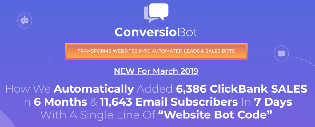 ConversioBot claims to explode sales and generate massive email list