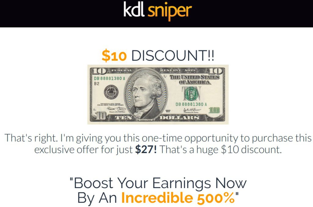 Kindle Sniper claims big income with little to no work.