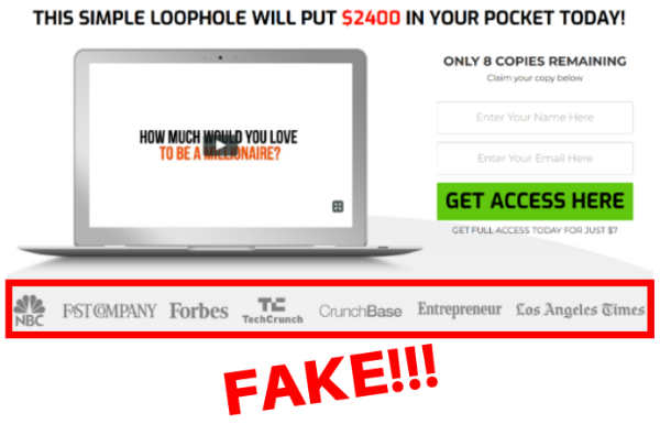 Fake Credentials of Daily Profits