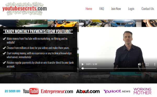 Sales Page of YouTube Secrets