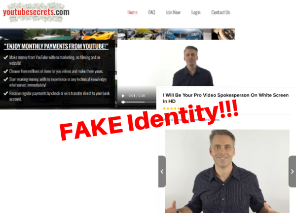 Fake Identity of YouTube Secrets