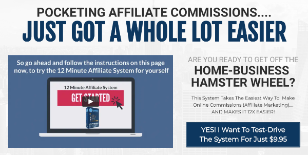 Sales page of 12 Minute Affiliate
