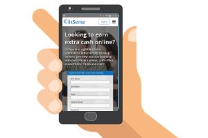ClixSense on a mobile phone