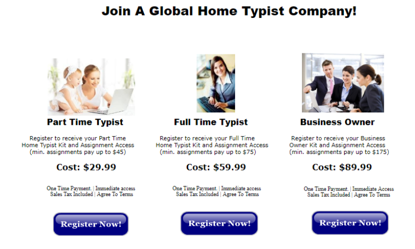 Payment plan of Type At Home