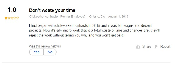 Clickworker Customer Reviews