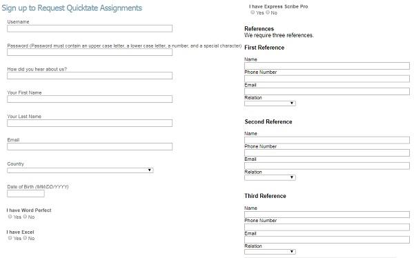 Is Quicktate A Scam - A Online Transcription Job - selection process
