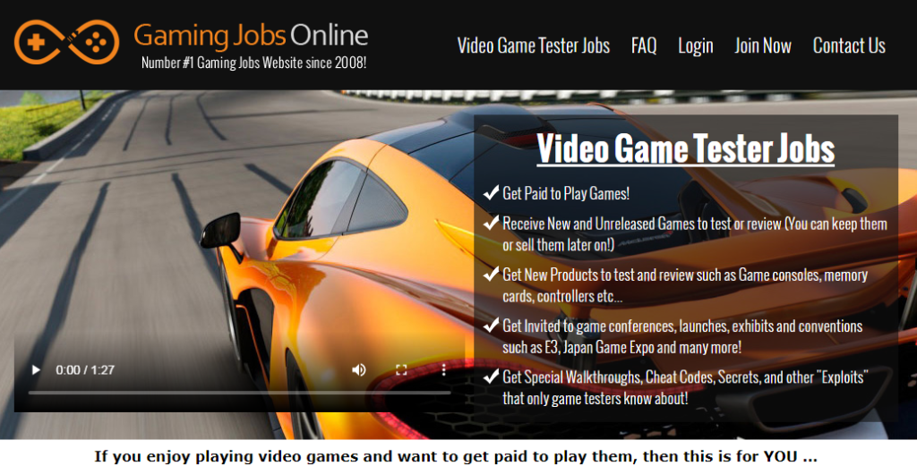 Gaming Jobs Online A Scam website