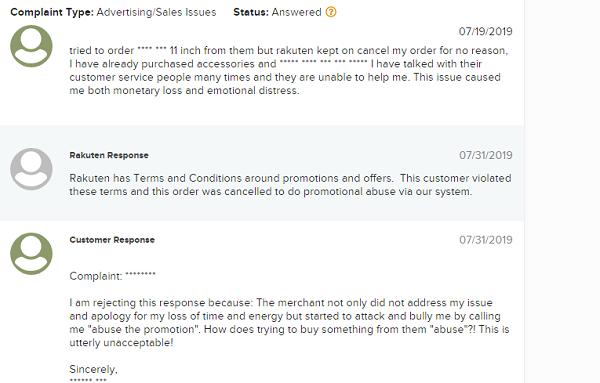 Is Rakuten A Scam complaints