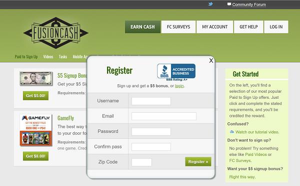 Fusion Cash Scam? website