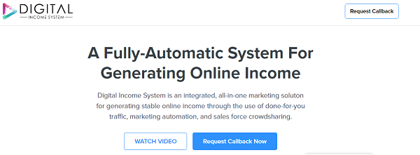 Digital Income System Scam website