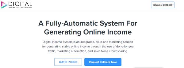 Digital Income System Scam website