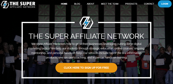 Is Super Affiliate Network A Scam landing page
