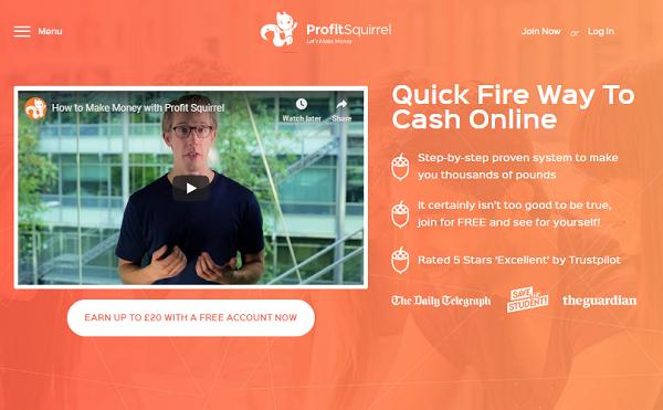 Is Profit Squirrel Scam website