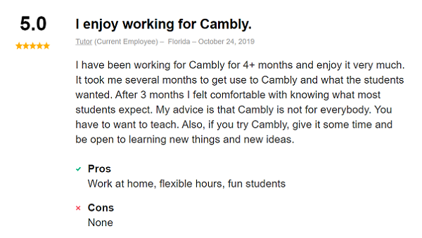 Cambly Review: Indeed reviews