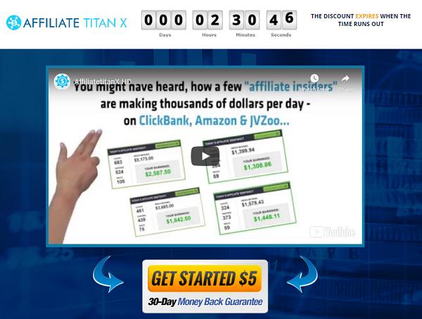 Affiliate Titan X Review website