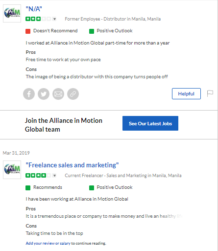 Is Aim Global A Scam? Glassdoor review
