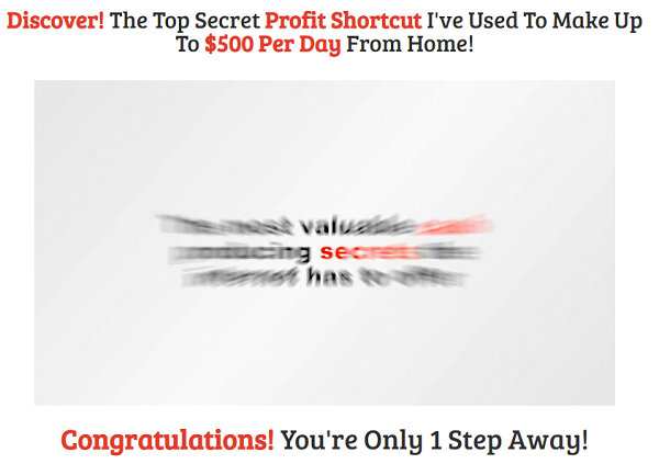 The Profit Shortcut Scam? website