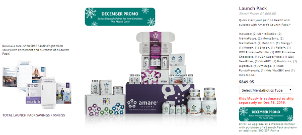Is Amare Global Scam?Launch pack package