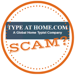 Type At Home Scam