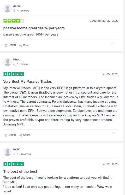 Is My Passive Trades A Scam - trustpilot review