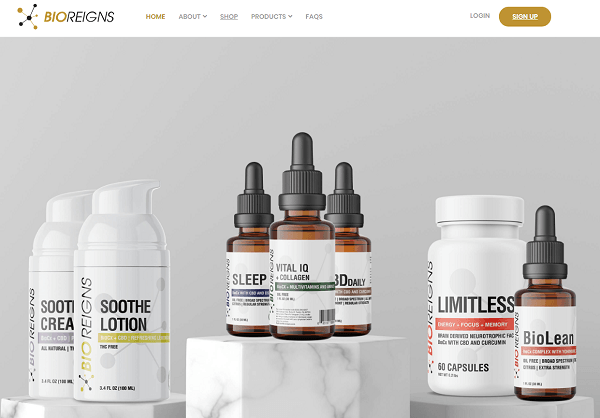Bioreigns Review - website