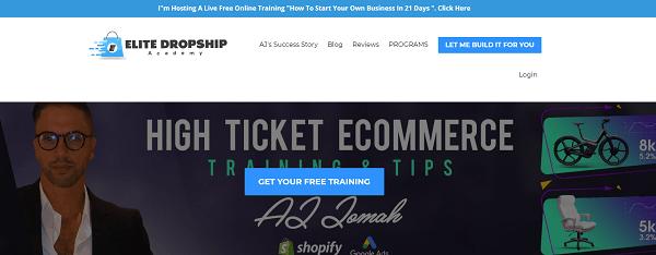 Elite Dropship Academy Review - website