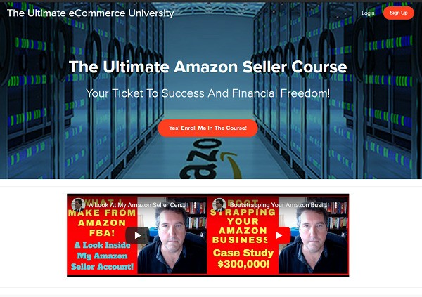 Ultimate Amazon Seller Course review - website