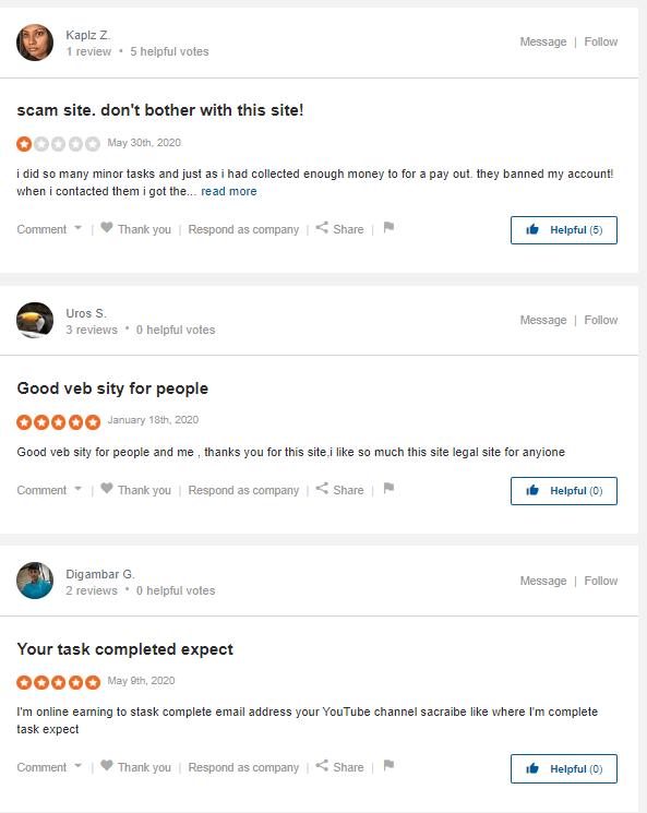 Rapidworkers.com review - sitejabber review
