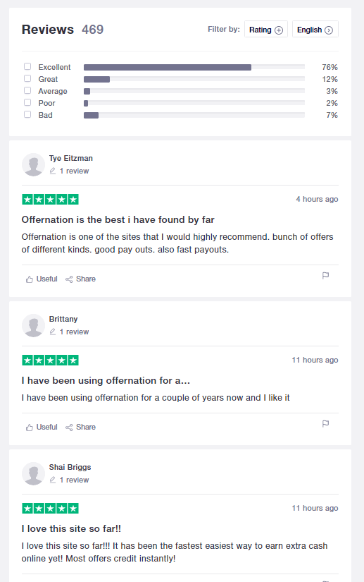 Is Offernation Scam? trustpilot review