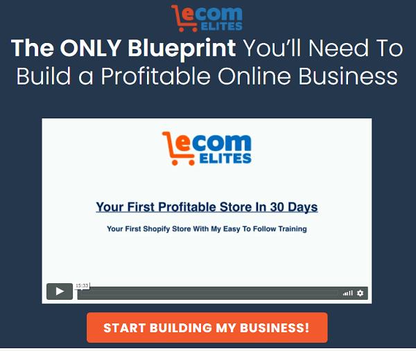 Ecom Elites Scam - website