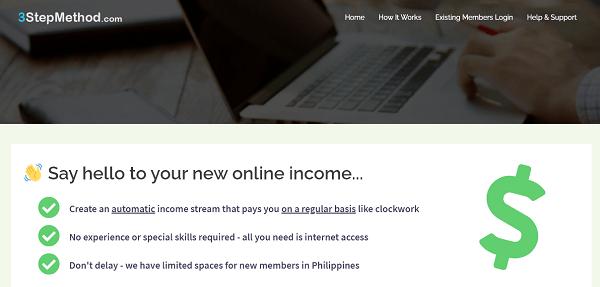 Is 3 Step Method Scam - website