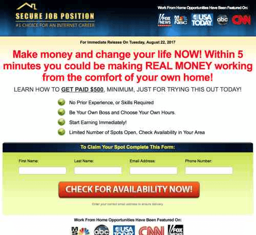 Is Home Profit System Scam - website