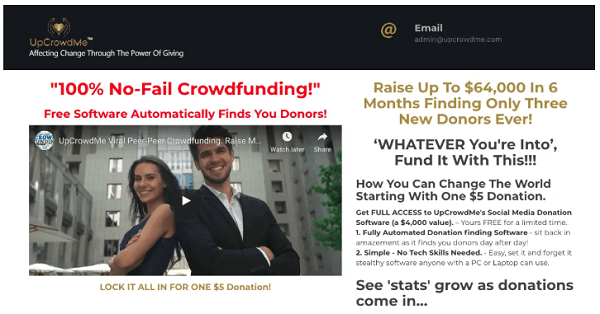 Is UpCrowdMe A Scam? website