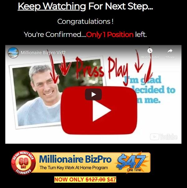Is Millionaire Biz Pro Scam? website