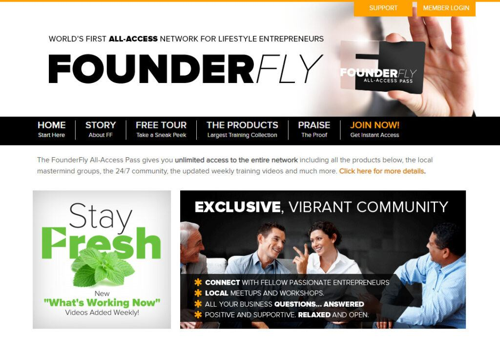 Founder Fly Review - website